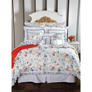 Spring Blossom Duvet Cover Multi-Colored in Full For Sale