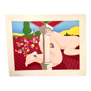 "1979 Signed Milton Glaser Abstract/Expressionist Serigraph ""Nude on the Music Hall Floor""-"