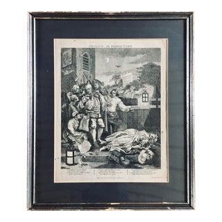 William Hogarth Cruelty Series: Cruelty in Perfection For Sale