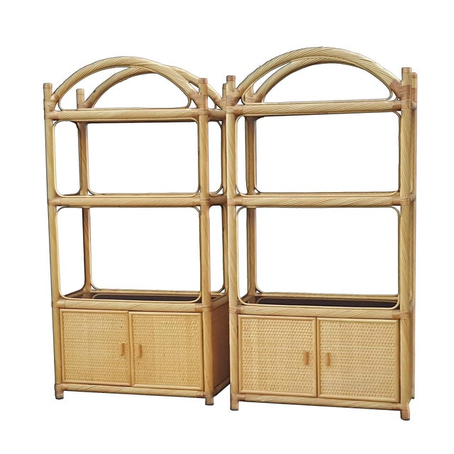 Ficks Reed Chippendale Style Rattan Étagères - a Pair For Sale - Image 13 of 13