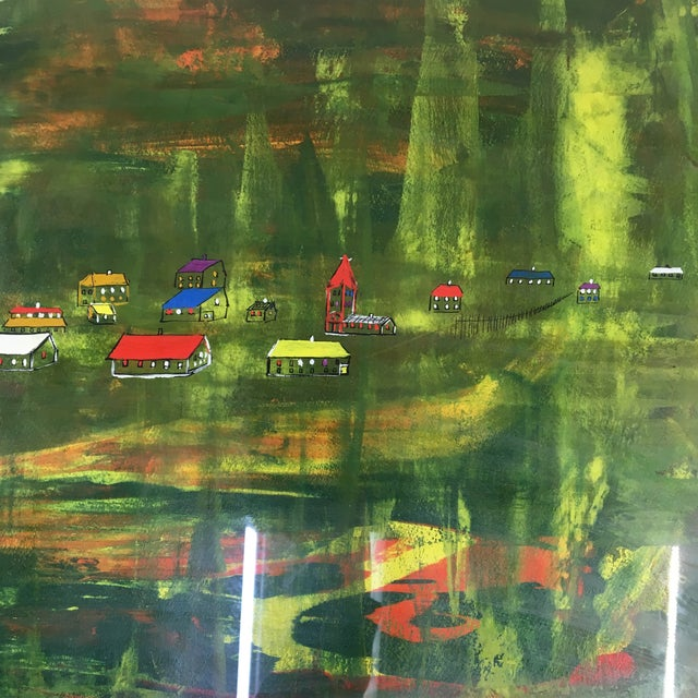 Late 20th Century Late 20th Century Abstract Landscape Painting, Framed For Sale - Image 5 of 8
