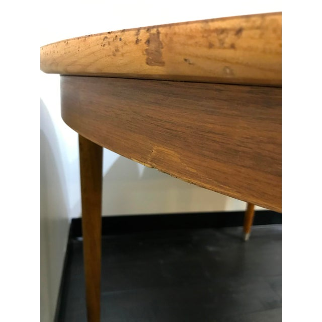 Mid-Century Modern B P John Wood Dining Table For Sale - Image 10 of 12