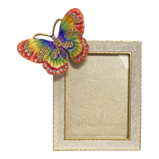 """Jay Strongwater Butterfly 3"""" X 4"""" Picture Frame For Sale"""
