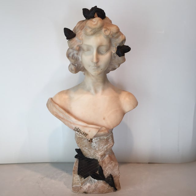 Antique 1920s Italian Alabaster Bust - Image 2 of 10