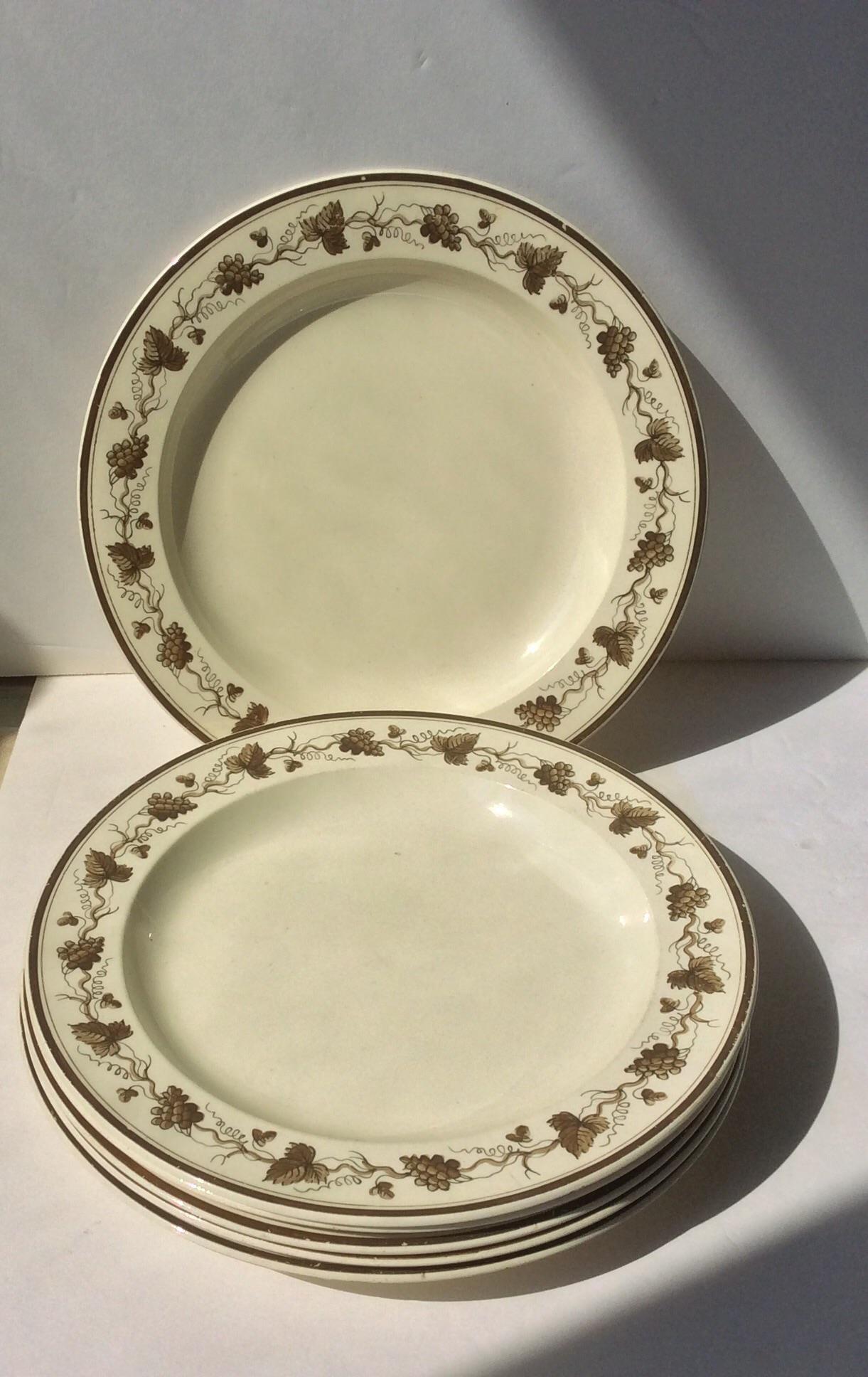 Creamware Plates With Grape Leaf Design - Set of 6 - Image 2 of 6  sc 1 st  Chairish & Creamware Plates With Grape Leaf Design - Set of 6 | Chairish