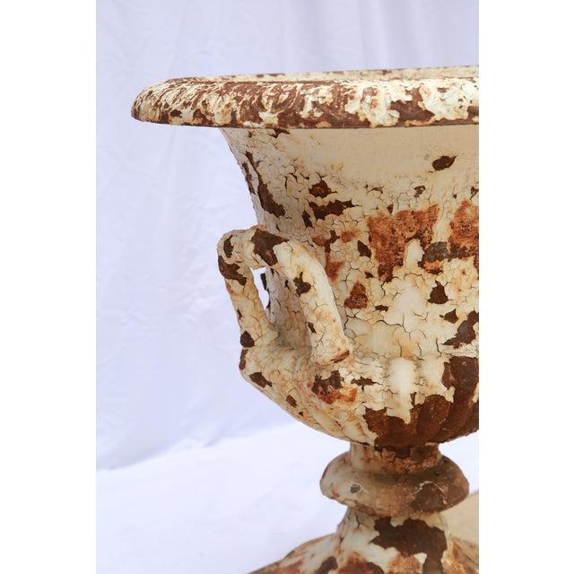Rusted Cream Antique Urn - Image 3 of 5