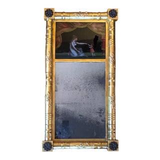 19th Century American Gilt Eglomise Original Wall Mirror For Sale