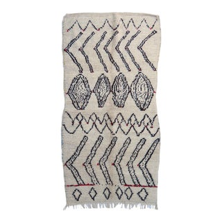 Vintage Handwoven Azilal Rug For Sale