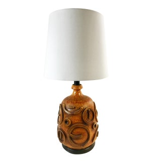 Vintage Mid-Century Modern Brutalist Ceramic Lamp For Sale