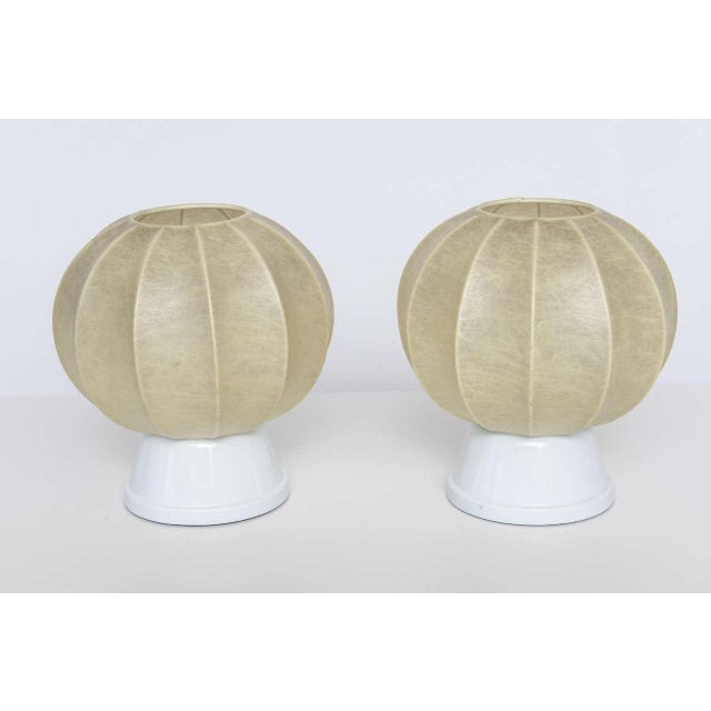 Mid-Century Modern Pair of 60's German Table Lamps in the Manner of George Nelson For Sale - Image 3 of 10