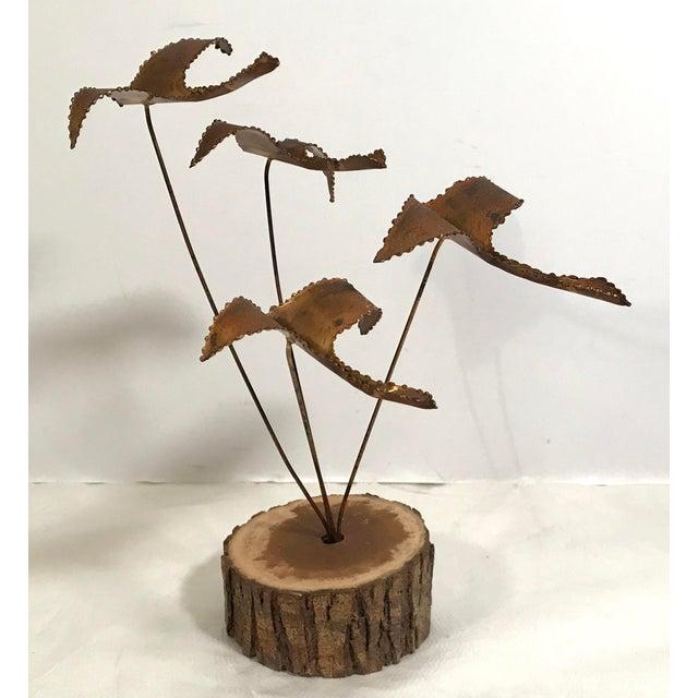 "Vintage Brutalist ""Geese in Flight"" Metal Sculpture For Sale - Image 9 of 11"