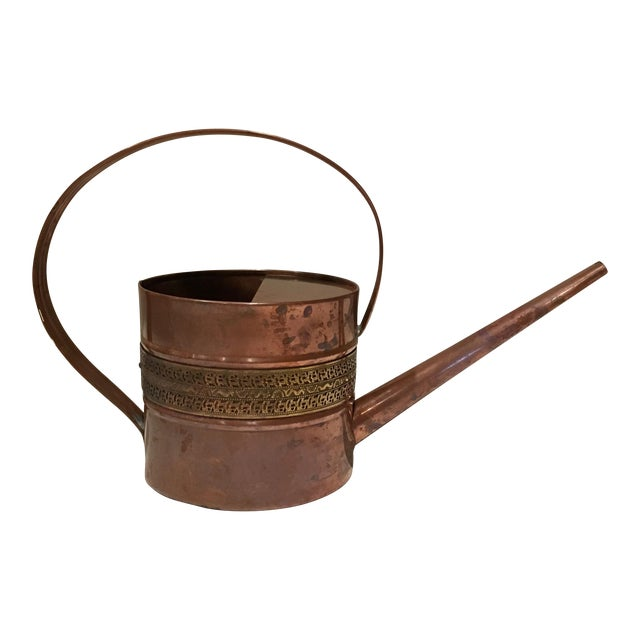 Copper and Brass Watering Can - Image 1 of 7
