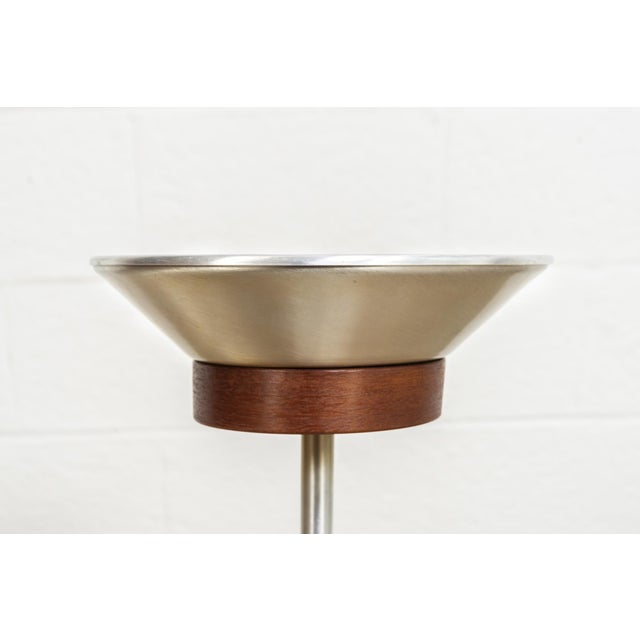 Brown Mid Century Floor Stand Ashtray For Sale - Image 8 of 10