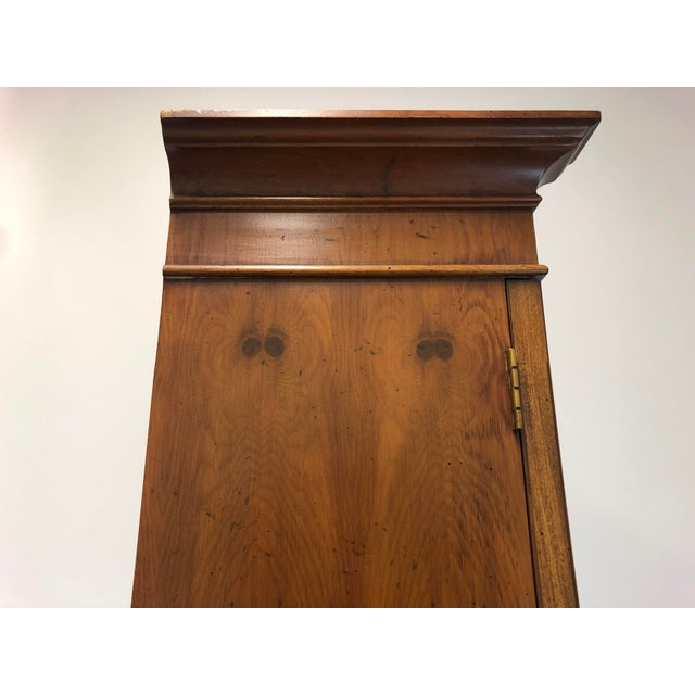 Henredon Chippendale Double Bonnet Top Yew Wood Secretary For Sale In Charlotte - Image 6 of 13