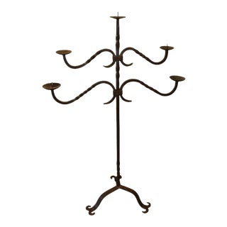 Early 20th Century French Iron Candelabra For Sale
