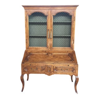 French Provincial Secretary Desk With Bookcase For Sale