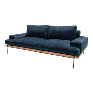 Industrial Modern Mid Century Style Sofa For Sale