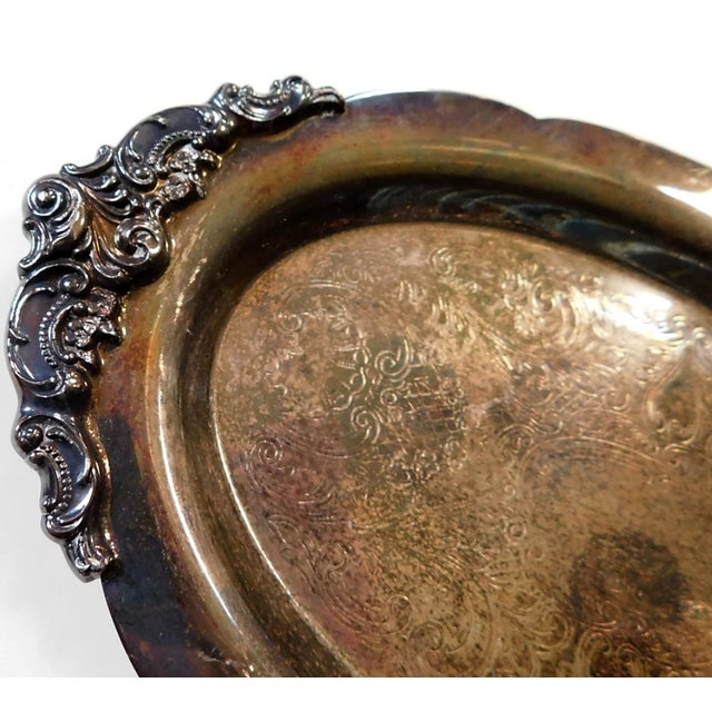 Wallace Silversmiths Small Wallace Baroque Silver Tray For Sale - Image 4 of 6