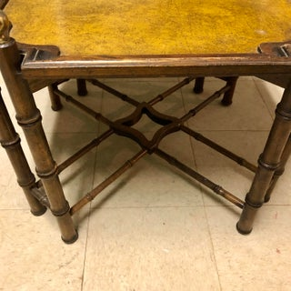 1950s Chinese Chippendale Brass and Bamboo Side Table Preview