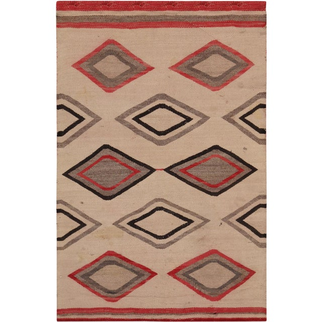 "Pasargad Vintage Navajo Style Area Rug - 2' 7"" X 4' - Image 1 of 3"