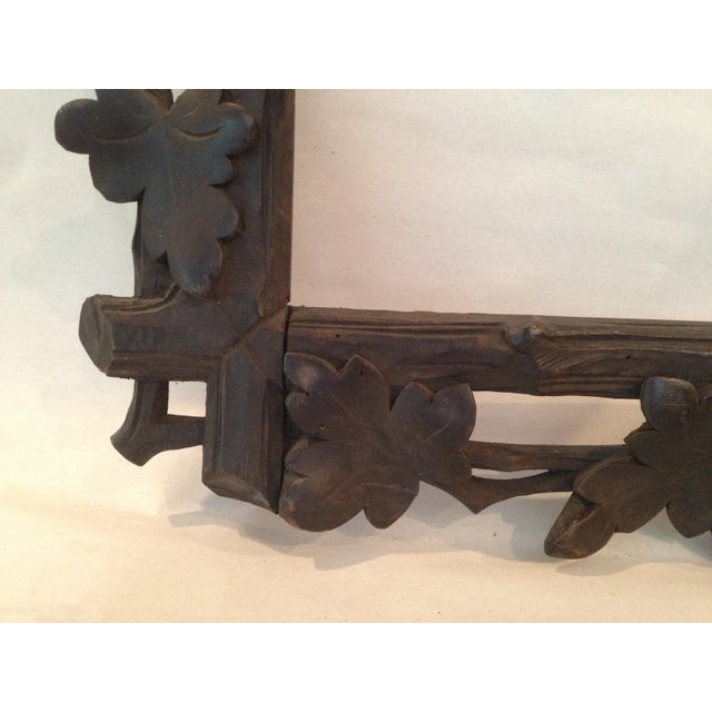 Antique Carved Black Forest Frame - Image 9 of 9