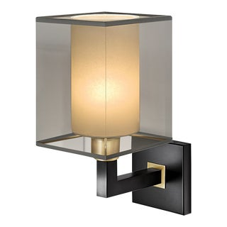 Madison Black Bronze Wall Light With Shade