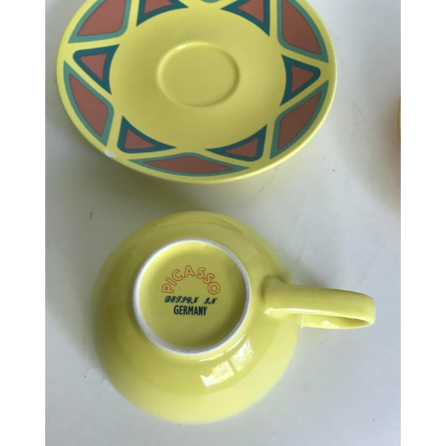 Vintage Germany Picasso Mug and Plate - Service for 3 For Sale In Los Angeles - Image 6 of 8