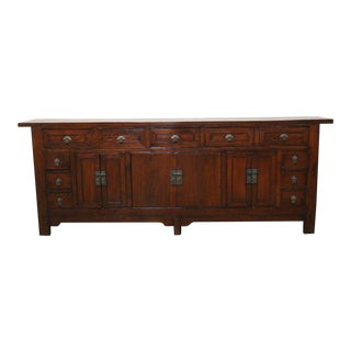 Late 19th Century Walnut Sideboard For Sale
