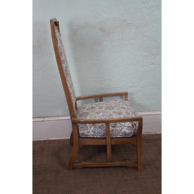 Mid Century Modern Walnut Upholstered Arm Chair - Image 5 of 10