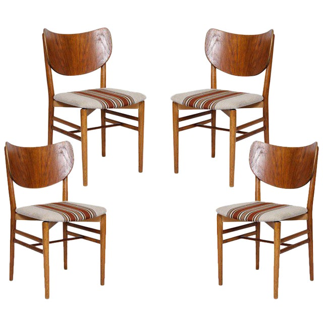 Set of 4 Eva & Niels Koppell Dining Chairs - Image 1 of 7