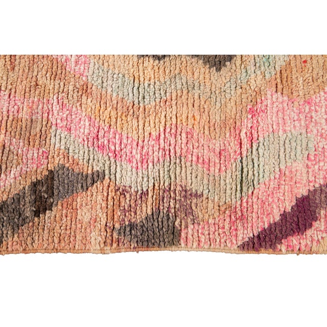 Vintage Azilal Moroccan Wool Rug For Sale In New York - Image 6 of 13