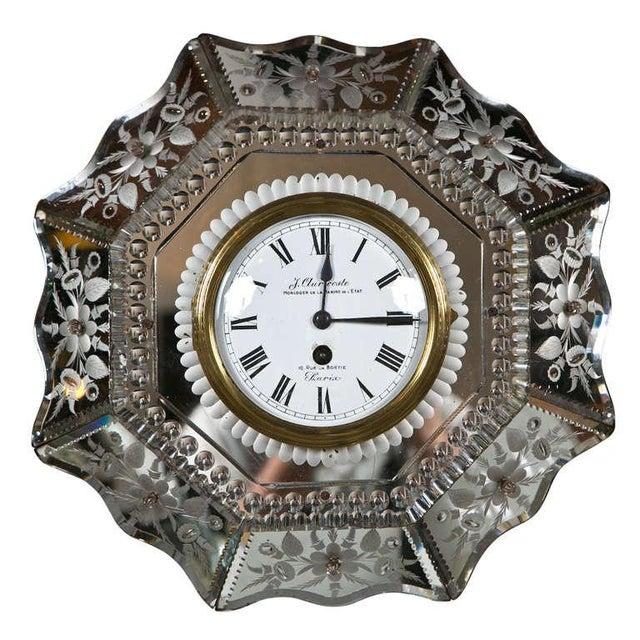 Venetian Glass Mirrored Clock - Image 1 of 7