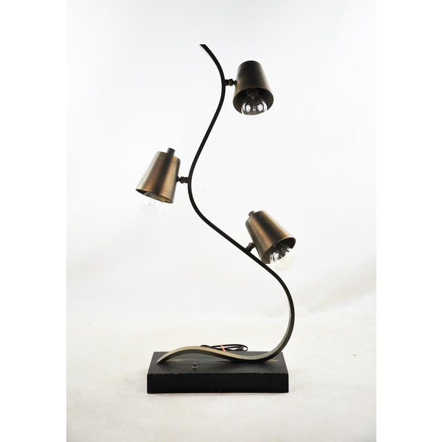 Brass Three Light Curvilinear Table Lamp Chairish