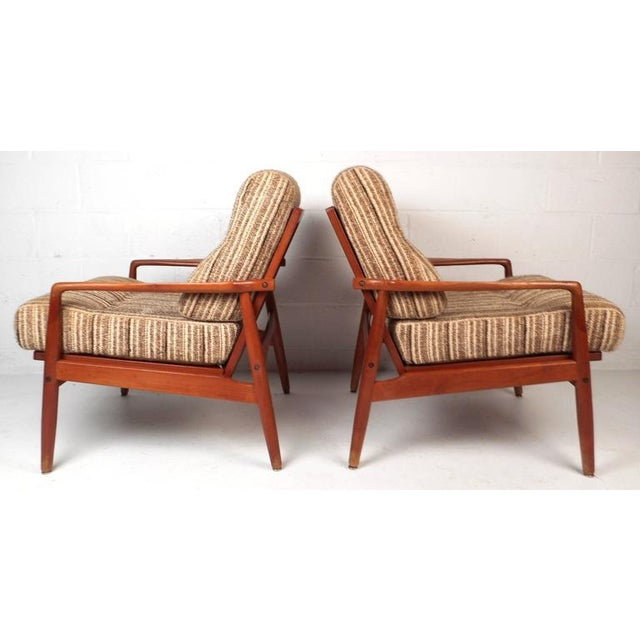 Mid-Century Modern Danish Teak Lounge Chairs - a Pair - Image 3 of 9