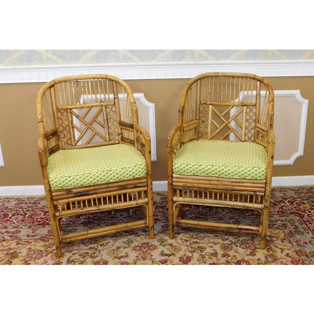 Brighton Style Chippendale Hollywood Regency Bamboo Armchairs- A Pair - Image 2 of 10