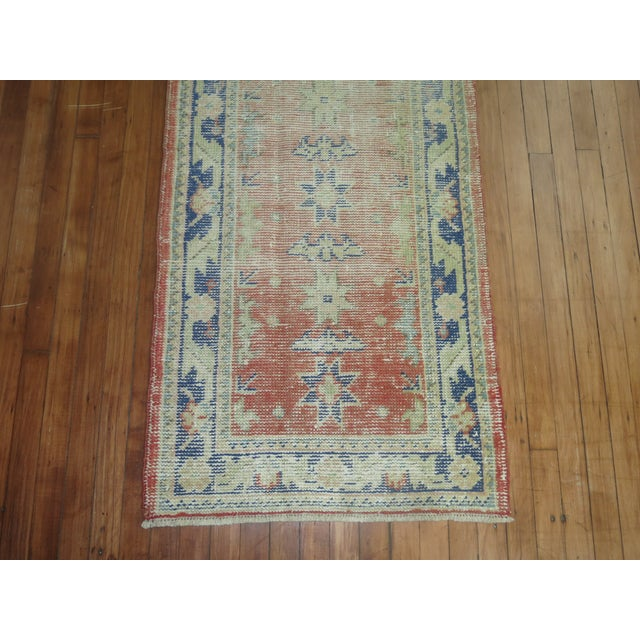 Distressed Turkish Oushak Runner Rug - 2'5'' x 10'9'' For Sale - Image 4 of 8