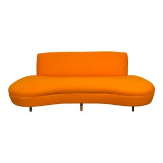 1950s Vladimir Kagan Style Curved Sofa For Sale
