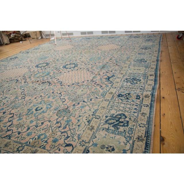 """Textile Vintage Kashan Carpet - 10'1"""" X 14'2"""" For Sale - Image 7 of 11"""
