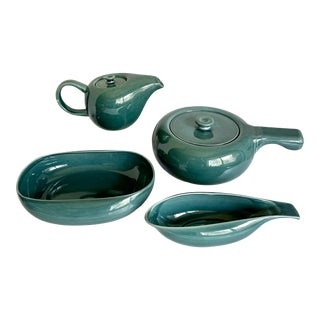 Russel Wright Steubenville Mid-Century Pottery Serving Set For Sale