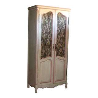 1970s Vintage French Provencial Style Armoire For Sale