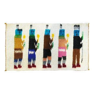 "Navajo Five Figure Yei Rug-11'x1'6"" For Sale"