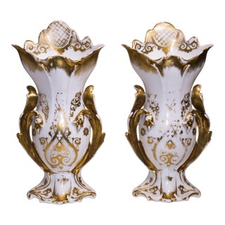 French Rococo Style Mantle Vases - A Pair