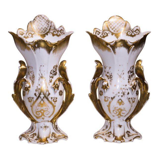 French Rococo Style Mantle Vases A Pair Chairish