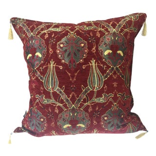 "Kilim Patterned Pillow Cover 26""x 26"" For Sale"