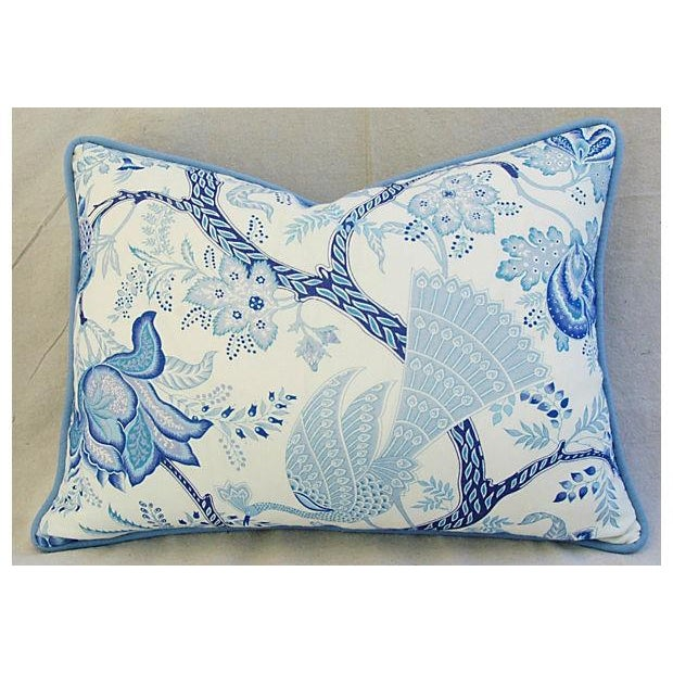 Designer Stroheim Jaidee Blue/White Pillows - Pair - Image 5 of 8