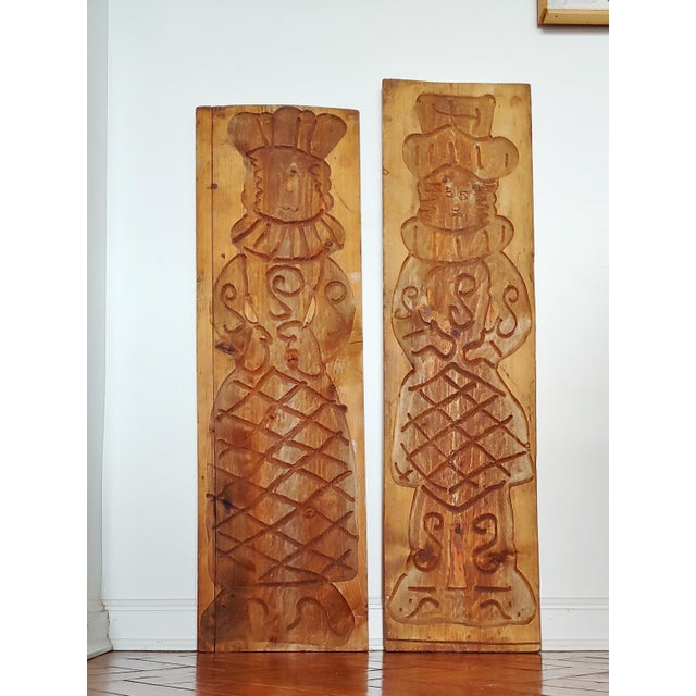 Vintage Scandinavian Royalty Hand Carved Wood Molds - a Pair For Sale - Image 9 of 10