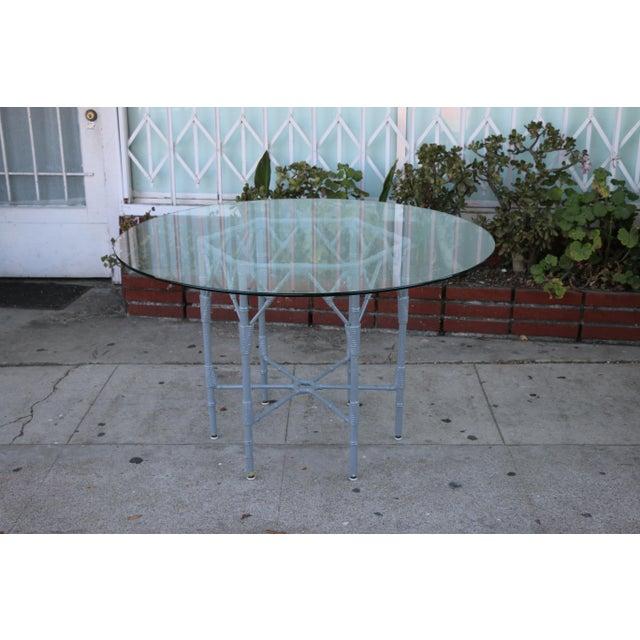 Venemen Outdoor Cast Iron Patio Set For Sale In Los Angeles - Image 6 of 13