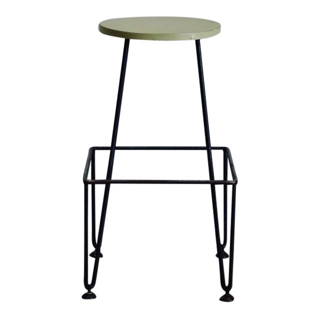 Set of Four Industrial Counter-Height Bar Stools For Sale