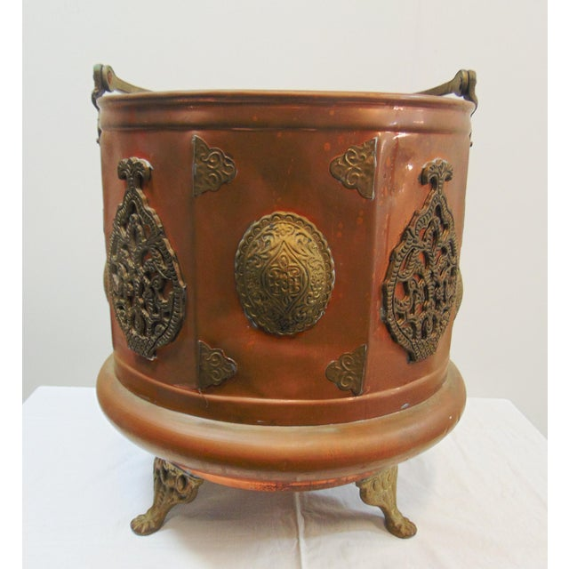 Metal Arts & Crafts Copper & Brass Ash Bucket For Sale - Image 7 of 7