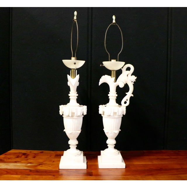 Alabaster Table Lamps - A Pair - Image 10 of 10